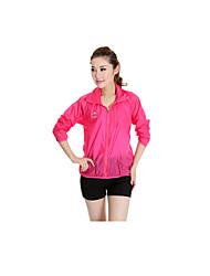 Femme Tee-shirt de Course Manches Longues Etanche Séchage rapide Pare-vent Résistant aux ultraviolets Résistant à la poussière Haute