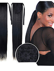 cheap -excellent quality synthetic 22 inch long straight ribbon ponytail hairpiece 16 colors available
