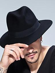 Unisex Wool Blend Bucket Hat,Vintage Casual Solid All Seasons