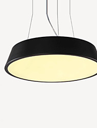 Led24W Pendant Light/ Round/ Modern/Contemporary Painting for Dining Room / Study Room/Office/Black or White