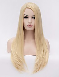 cheap -Synthetic Hair Wigs Straight Carnival Wig Halloween Wig Natural Wigs Long Very Long Blonde