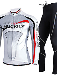 Nuckily Cycling Jersey with Tights Men's Long Sleeves Bike Clothing Suits Thermal / Warm Ultraviolet Resistant Breathable Comfortable