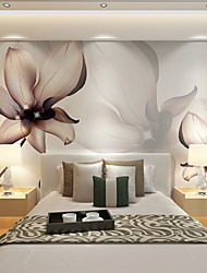 JAMMORY Art DecoWallpaper For Home Wall Covering Canvas Adhesive required Mural Brown Flowers XL XXL XXXL