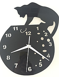 cheap -Modern/Contemporary Traditional Casual Animals Wall Clock,Round Acrylic Indoor Clock