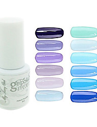 abordables -yemannvyou®sequins de color de uñas de gel UV no.61-72 polaco (5 ml, colores surtidos)
