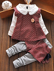 cheap -Girls' School Striped Long Sleeve Clothing Set
