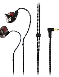 AuGlamour R8 In-ear Earphone Ear Hook Single Moving Coil Metal Headset Stereo HiFi Cord Removable Headphone UE Contact Pins