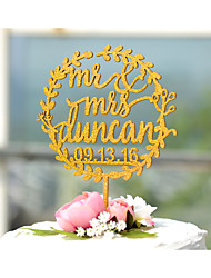 cheap -Cake Topper Garden Theme Floral Theme Classic Theme Vintage Theme Classic Couple Monogram Acrylic Resin Chrome Wedding Anniversary Bridal