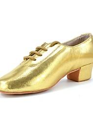 Men's Latin Jazz Dance Sneakers Modern Salsa Swing Shoes Sparkling Glitter Leatherette Heel Practice Beginner Professional Indoor