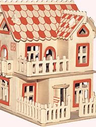 abordables -Puzzles en bois Bâtiment Célèbre Architecture Chinoise Maison Niveau professionnel En bois 1pcs Style européen Enfant Garçon Cadeau