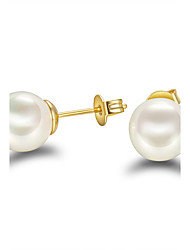 Women's Stud Earrings Pearl Pearl Sterling Silver Imitation Pearl Black Pearl Jewelry For Wedding Party Daily Casual