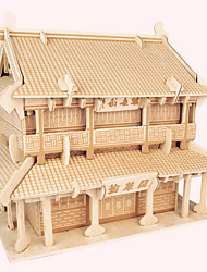 Jigsaw Puzzles Wooden Puzzles Building Blocks DIY Toys  PengLai Pavilion 1 Wood Ivory Model & Building Toy