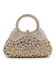 cheap -Women's Bags Metal Evening Bag Crystal / Rhinestone for Wedding / Event / Party / Formal Gold