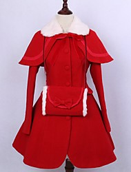 Cappotto Gotico Lolita Classica e Tradizionale Ispirazione Vintage Elegant Vittoriano Rococò Da principessa Cosplay Vestiti LolitaTinta