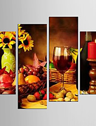 cheap -Canvas Set Leisure Food Modern Realism,Four Panels Canvas Any Shape Print Wall Decor For Home Decoration
