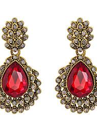 ieftine -Dame Cercei Picătură Roșu-aprins Cristal Bijuterii Pentru Nuntă Petrecere Zilnic