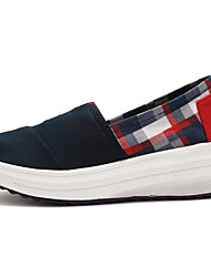 Damen-Loafers & Slip-Ons-Outddor Lässig Sportlich-Leinwand-KeilabsatzKaffee Marinenblau Rot