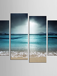 cheap -Landscape Fantasy Modern Realism, Four Panels Canvas Any Shape Print Wall Decor Home Decoration