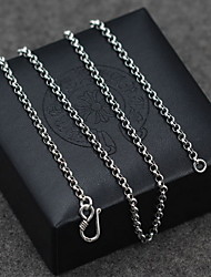 cheap -Men's / Women's Single Strand Pendant Necklace / Chain Necklace / Collar Necklace - Pearl, Sterling Silver Vintage, Basic Silver Necklace For Party, Birthday, Daily