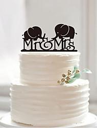 Acrylic elephants cake topper custom wedding cake cake decoration factory direct sale