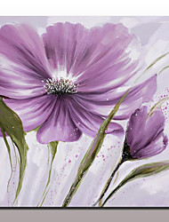 cheap -Large Hand Painted Purple Flowers Oil Painting On Canvas Modern Wall Art Picture For Living Room Home Decoration Ready To Hang