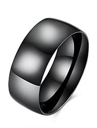 preiswerte -Herrn Edelstahl Ring - Modisch Simple Style Europäisch Schwarz Ring Für Party Alltag Normal