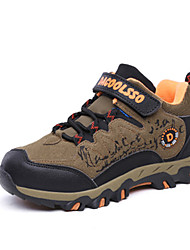 cheap -Girls' Shoes Fleece Fall Winter Comfort Athletic Shoes Hiking Shoes Lace-up For Outdoor Brown Blue