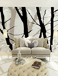 cheap -JAMMORY Art Deco Wallpaper For Home Wall Covering Canvas Adhesive Required Mural Black Branch Background XL XXL XXXL