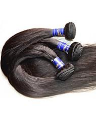 Недорогие -Перуанские волосы Классика Прямой силуэт Ткет человеческих волос 5 шт. в упаковке Высокое качество 0.5 Повседневные