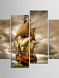 Canvas Set Abstract Landscape Classic Mediterranean,Four Panels Canvas Any Shape Print Wall Decor For Home Decoration