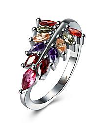 Prsten Kubický zirkon Zirkon Měď Titanová ocel imitace Diamond Stříbrná Šperky Denní Ležérní 1ks