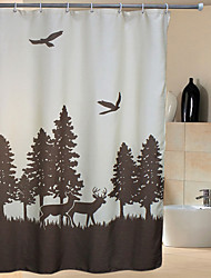 cheap -Neoclassical Poly/Cotton Blend High Quality Waterproof Shower Curtains 72x72inch (180x180cm)