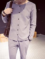 お買い得  -男性用 プラスサイズ Tシャツ ソリッド
