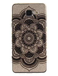 For Samsung Galaxy A5 A5(2016) A3 A3(2016) Case Cover White Lace Flower Pattern IMD Process Painted TPU Material Phone Case