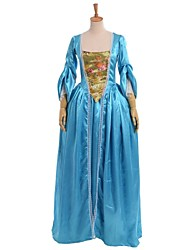 Steampunk®Rococo Blessume Women Medieval Baroque Dress Light Blue