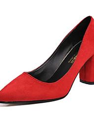 Da donna Tacchi PU (Poliuretano) Primavera Estate Casual A stiletto Nero Grigio Rosso 10 - 12 cm