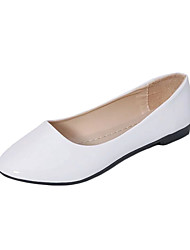 cheap -Women's Loafers & Slip-Ons Fall Winter Comfort PU Casual Low Heel Black Blue Pink Purple Red White Beige