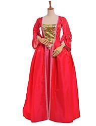 Gothique Lolita Classique/Traditionnelle Princesse Dentelle Femme Une Pièce Robes Cosplay Fleur Manches Longues