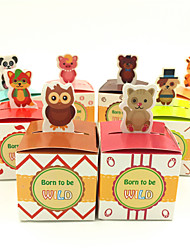 50 Piece/Set Baby Shower Favors Birthday Party Boxes and Gift Kids Birthday Party Decoration Cute Animals Candy Box