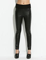 billige -Dame Plusstørrelser Skinny / Jeans Bukser Ensfarvet