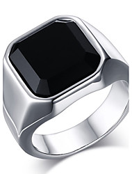 cheap -Men's Onyx Statement Ring / Ring - Stainless Steel Fashion 8 / 9 / 10 Gold / Silver For Daily / Casual