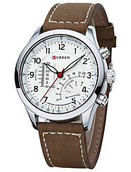 cheap -Men's Sport Watch Dress Watch Fashion Watch Quartz Calendar Large Dial Swiss Designer Genuine Leather Band Vintage Casual Multi-Colored