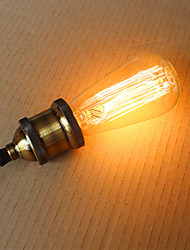 cheap -60W ST58 Edison Incandescent Light Bulbs 19 E27 Silk Vertical Wire Retro Decorative Light Bulbs
