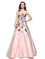 cheap -A-Line Sweetheart Floor Length Chiffon Satin Prom / Formal Evening Dress with Pleats by TS Couture®
