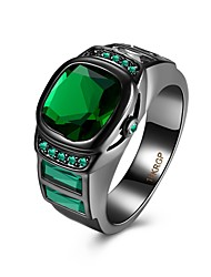 Women's Ring Crystal Luxury Synthetic Gemstones Copper Jewelry For Daily Casual