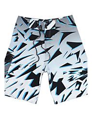svago degli uomini ad asciugatura rapida traspirante spiaggia Pantaloncini da bagno verde in poliestere stampa / blu