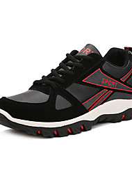 Men's Athletic Shoes Comfort PU Spring Fall Outdoor Hiking Comfort Lace-up Flat Heel Yellow Black/Red Black/Blue Flat