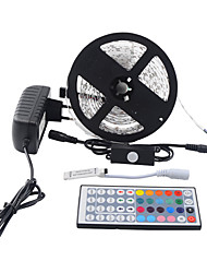 cheap -Light Sets 300 LEDs RGB Remote Control / RC Cuttable Dimmable Waterproof Color-Changing Self-adhesive Suitable for Vehicles Linkable
