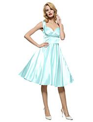 cheap -Maggie Tang Women's 50s VTG Retro Rockabilly Hepburn Pinup Bridesmaid Cos Party Swing Dress 562