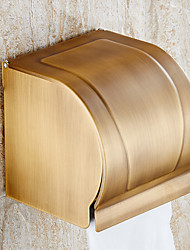 Copper Antique Paper Towel Rack Waterproof Paper Towel Box The Closed Toilet Paper Holder Bathroom Accessories
